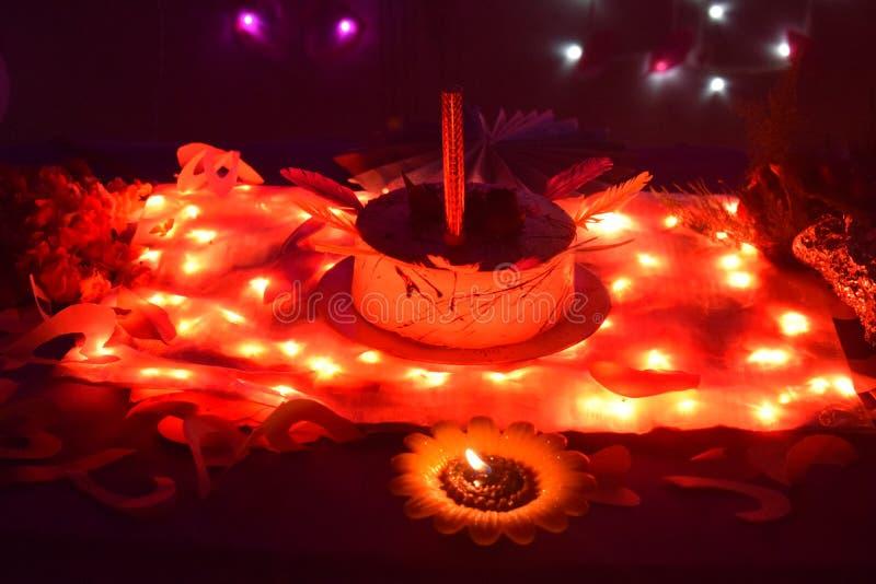 Indian home made birthday cake. Birthday celebrations royalty free stock photo