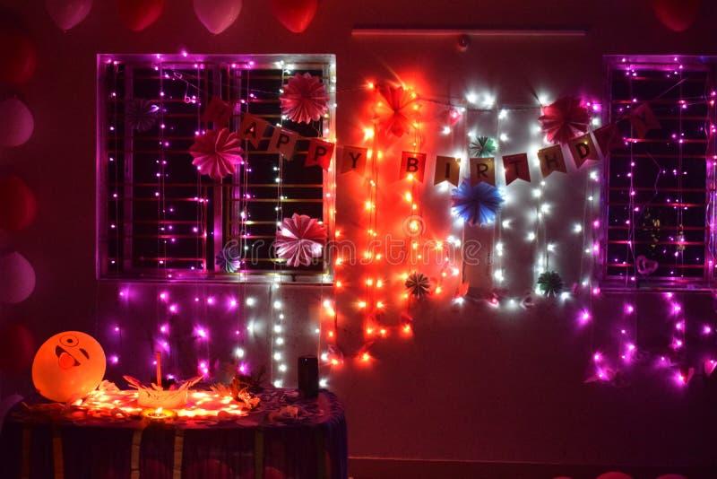 Indian birthday celebration environment. Birthday celebrations royalty free stock images