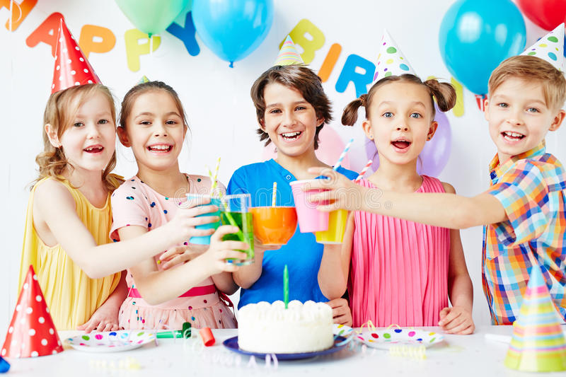 Birthday cheers stock photography