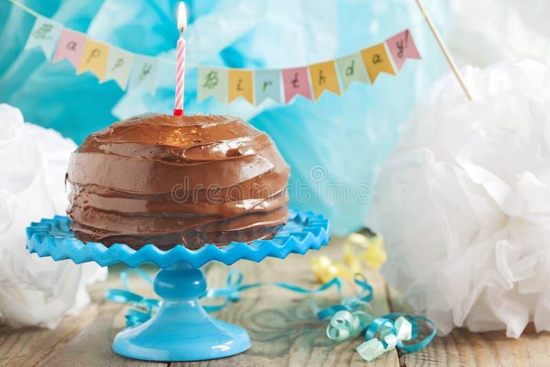 Birthday Chocolate Cake royalty free stock photography