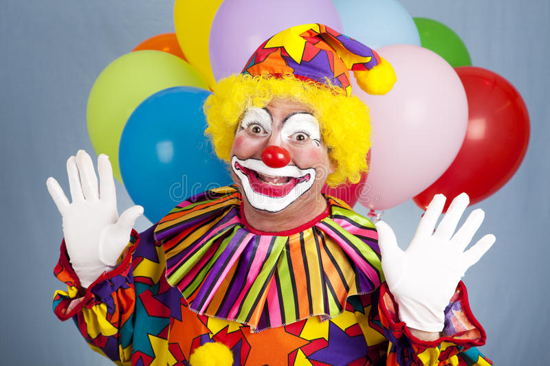 Birthday Clown - Surprise royalty free stock images