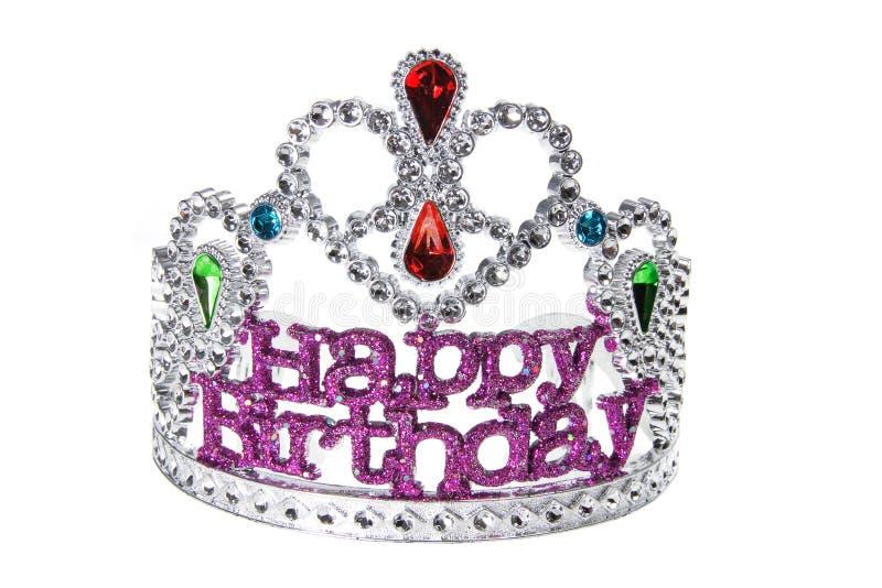 Birthday Crown. On White Background stock photos