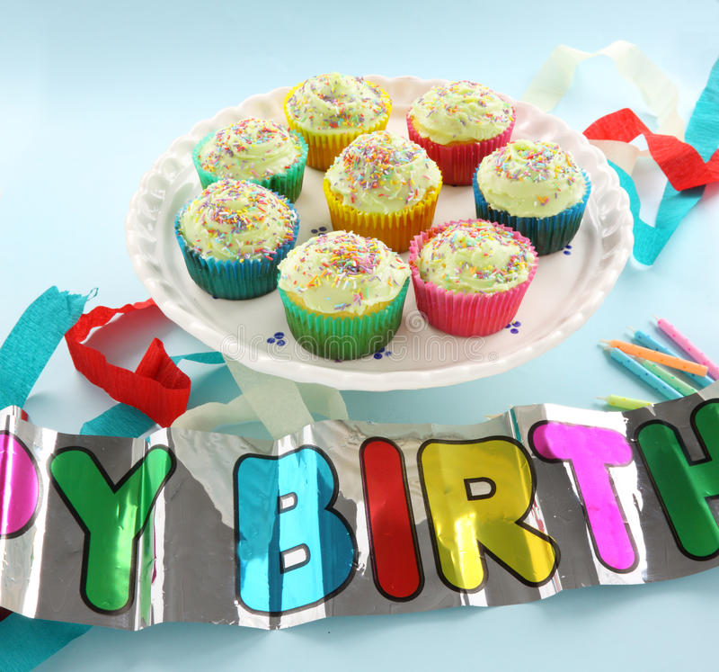 Download Birthday Cup Cakes stock image. Image of rich, birthday - 18372273