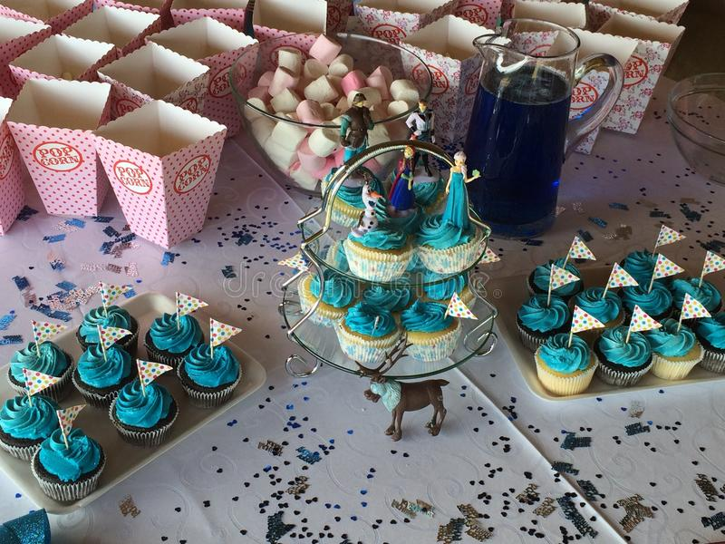 Birthday cup cakes royalty free stock image