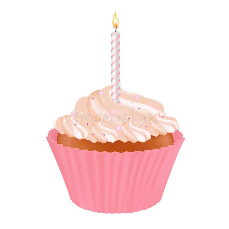 Download Birthday Cupcake stock vector. Illustration of bakery - 18315702