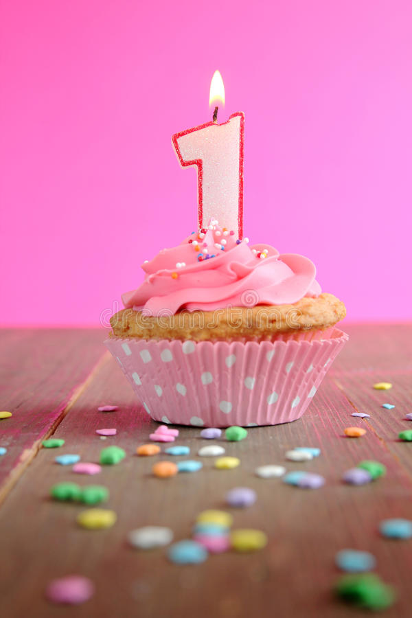 Download Birthday cupcake stock image. Image of creamy, cream - 25764467