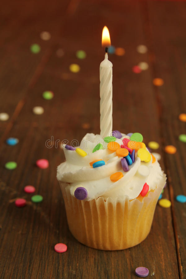 Download Birthday cupcake stock photo. Image of food, lunch, sprinkles - 27877052