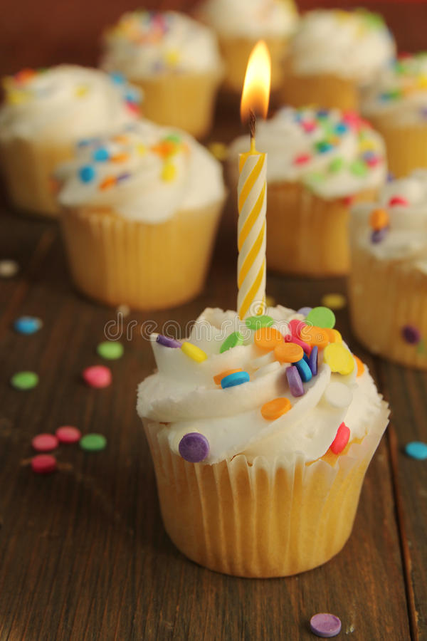 Download Birthday cupcake stock photo. Image of candy, sweets - 27877090