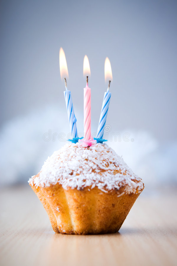 Download Birthday cupcake stock image. Image of colored, table - 5526491
