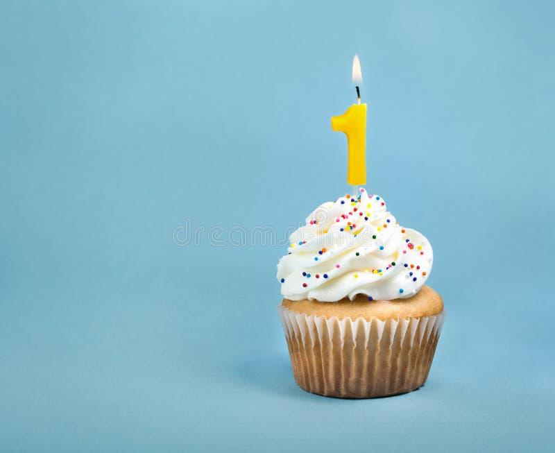 Birthday Cupcake stock photo Image of baked blue calories