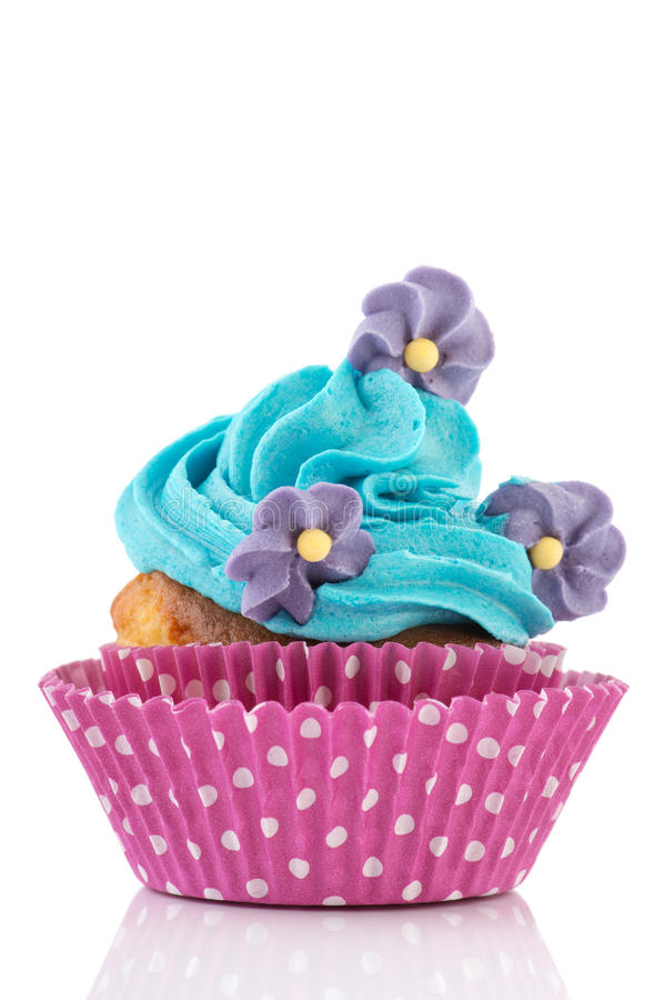 Download Birthday Cupcake With Flowers Stock Photo - Image: 30434258