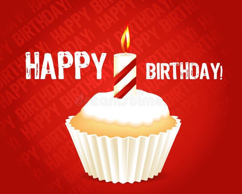 Birthday cupcake Greeting card stock illustration