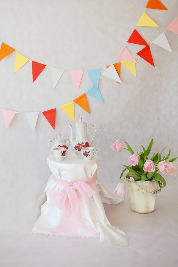 Birthday decoratiom stock photos