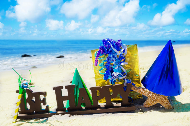 Birthday Decorations On The Beach Stock Photos Image 34118813