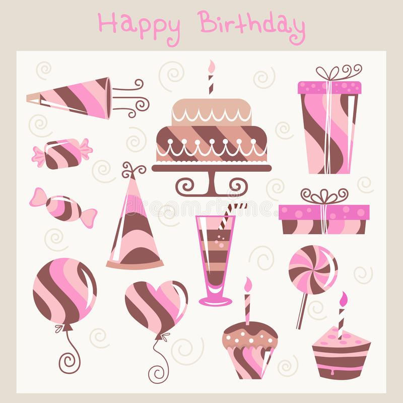 Free Birthday Design Elements Stock Image - 13073131