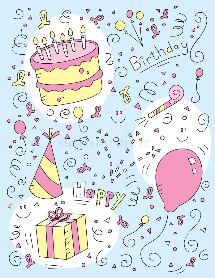 Download Birthday Doodle Royalty Free Stock Images - Image: 8846089