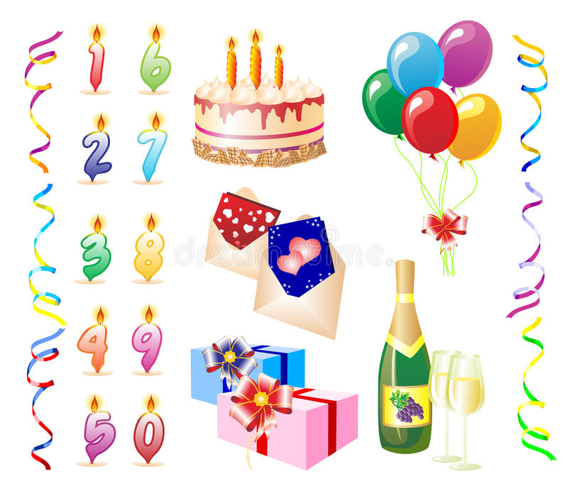 Download Birthday.eps stock vector. Illustration of dessert, candle - 9610974