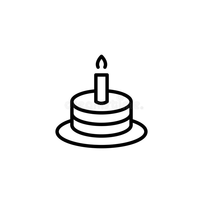 Birthday flat icon. Cake flat icon. Single high quality outline symbol of happy birthday for web design or mobile app. Thin line signs of holiday for design logo vector illustration