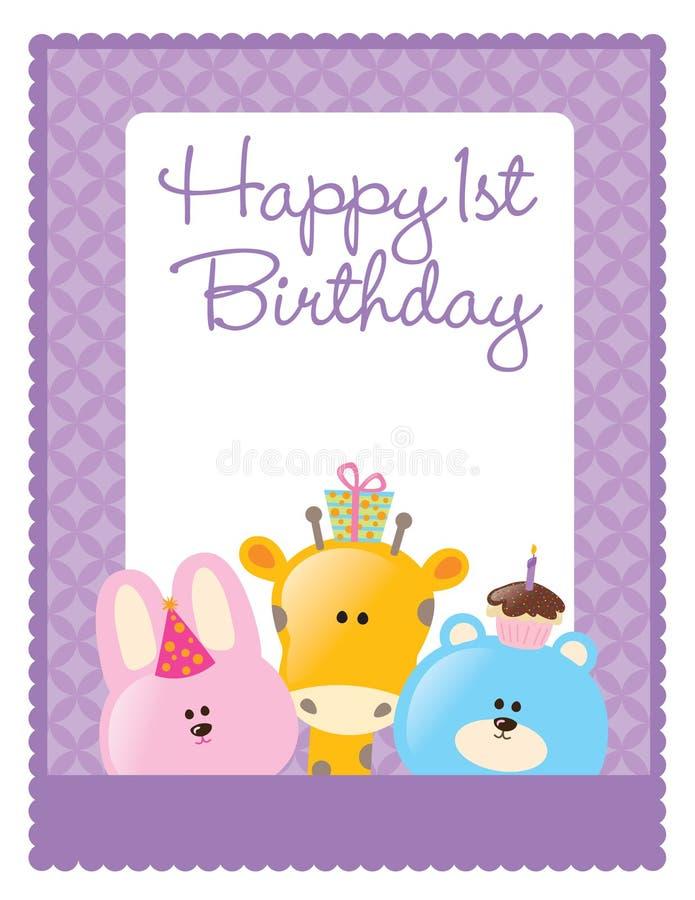 birthday flyer/poster template vector illustration