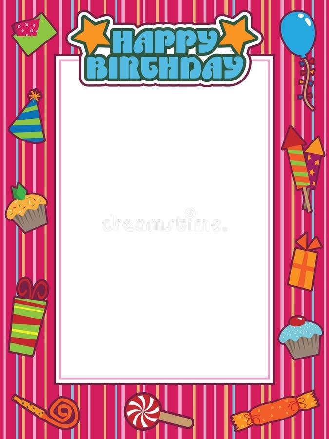 Birthday frame royalty free illustration