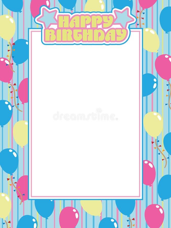Birthday frame stock vector. Illustration of text, illustration ...