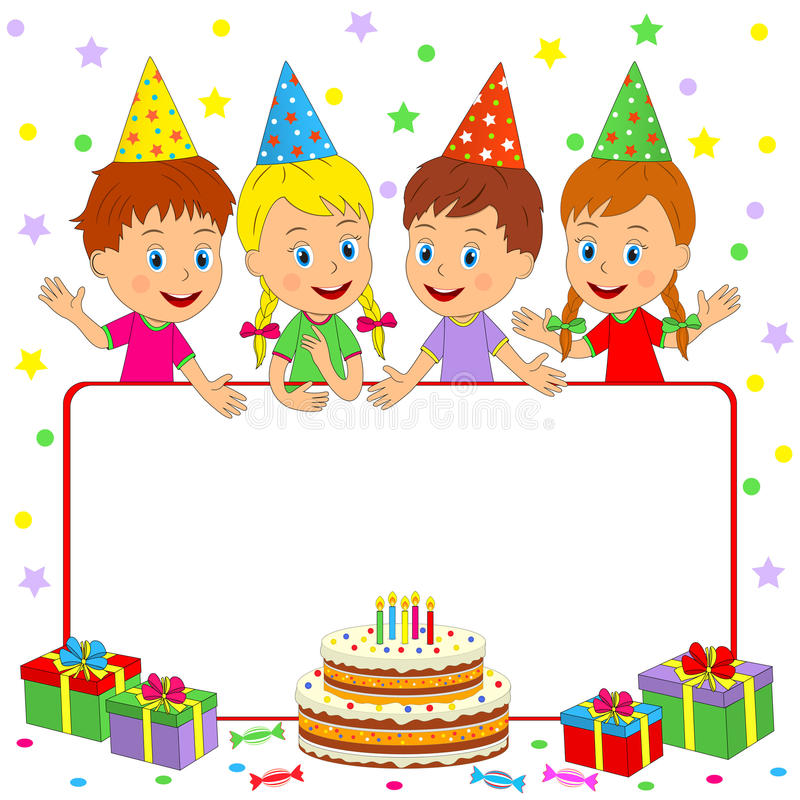 Good Download Birthday Frame Stock Vector. Illustration Of Party, Waving    91983346