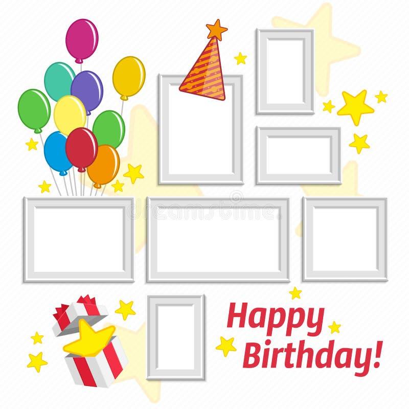 Birthday frame set stock vector. Illustration of hipster - 74247247