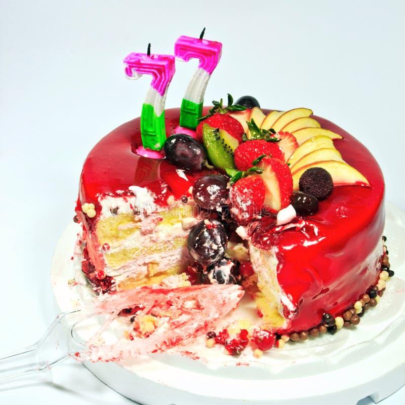 Colourful Fruit Cake: Birthday Fruit Cake Stock Image. Image Of Colorful