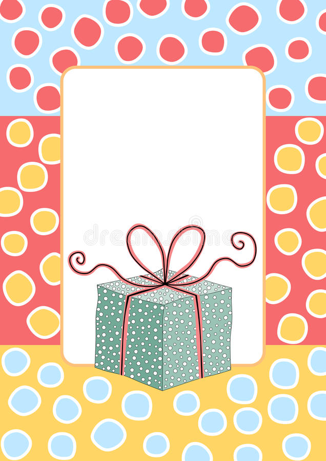 Download Birthday Gift Box Greeting Card Stock Illustration - Illustration of birthday, holiday: 37464344