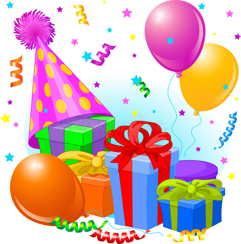 Download Birthday Gifts And Decoration Stock Vector - Image: 14612229