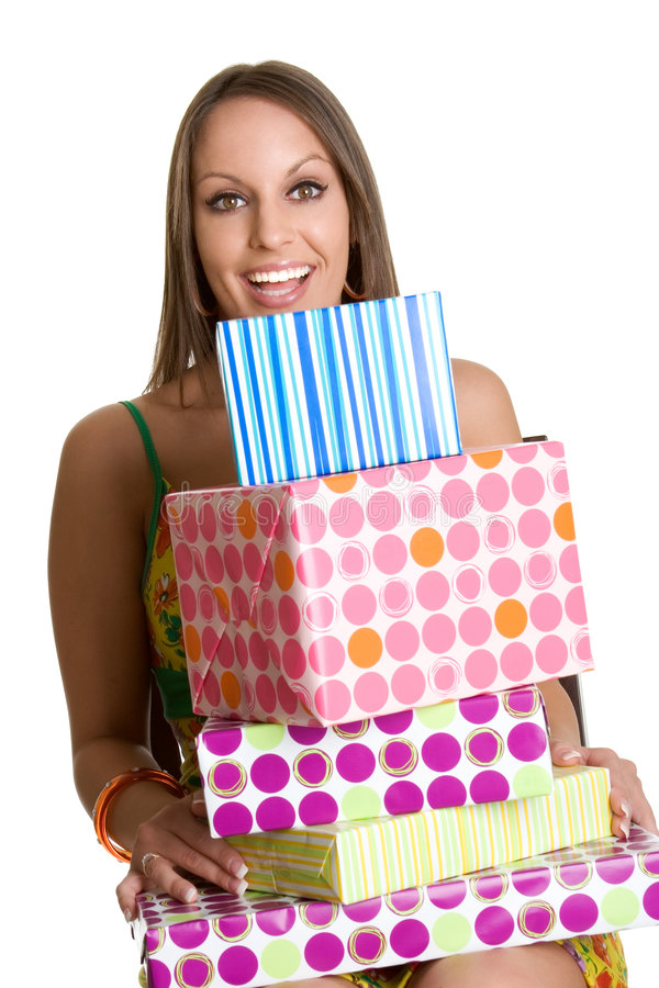 Birthday Gifts Girl royalty free stock images