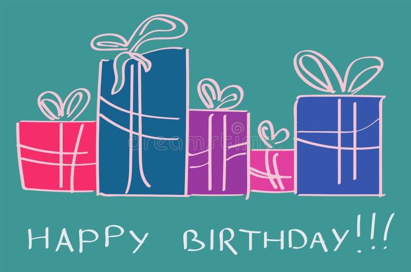 Birthday gifts royalty free illustration