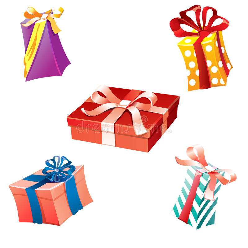 Birthday gifts and presents. stock illustration