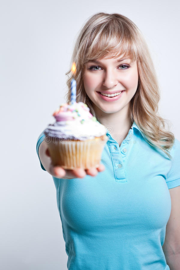 Birthday girl royalty free stock photos