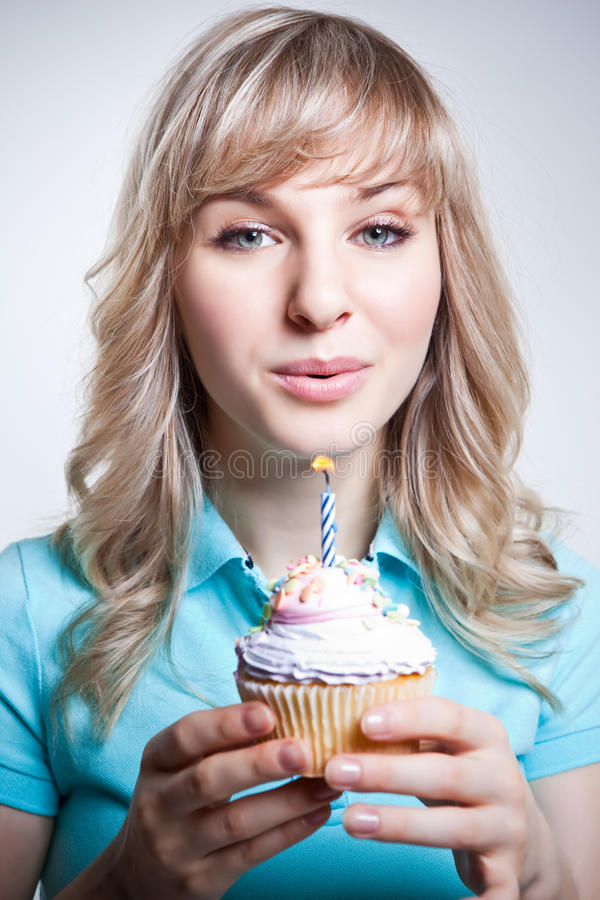 Birthday girl royalty free stock photography