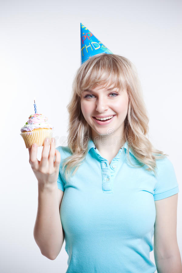 Birthday girl stock photography