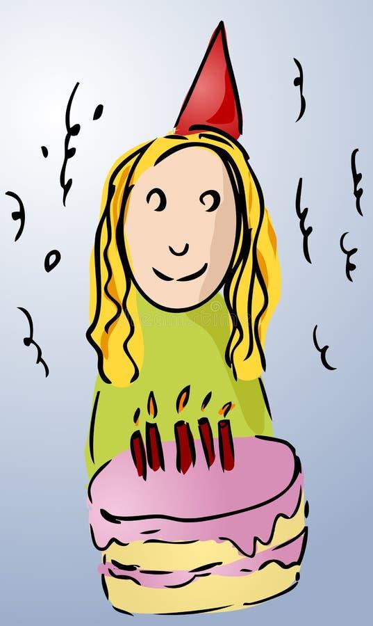 Download Birthday girl stock vector. Image of girl, clipart, teen - 1751146
