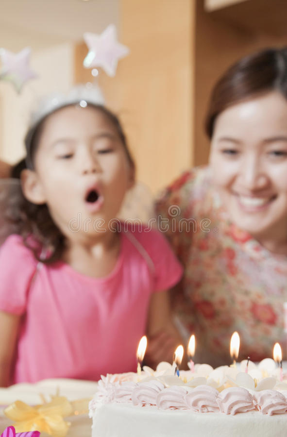 Free Birthday Girl About To Blow Out Her Candles Royalty Free Stock Photography - 36763077