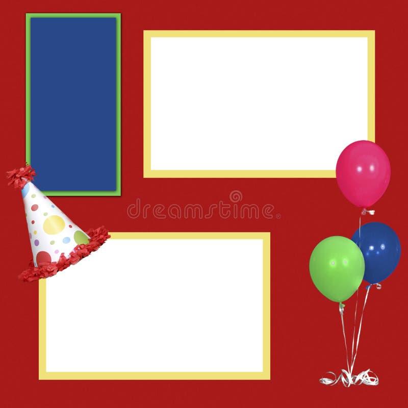Birthday Girl Scrapbook Page Layout vector illustration