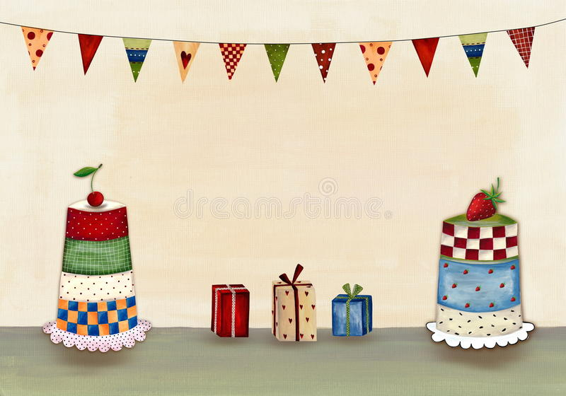 Download Birthday greeting card stock illustration. Illustration of party - 24961093