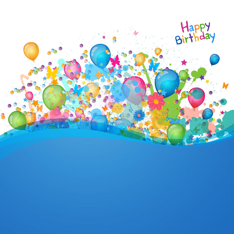 Birthday Greeting Card. Illustration of a Happy Birthday Greeting Card royalty free illustration