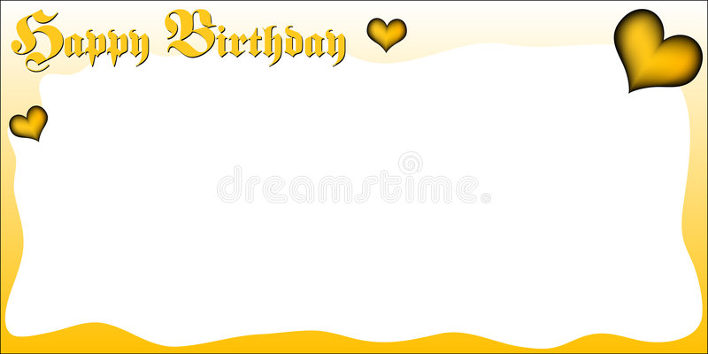 Birthday greeting card. In horizontal format with the lettering HAPPY BIRTHDAY in an old fraktur typeface. Available as Illustrator-file stock illustration