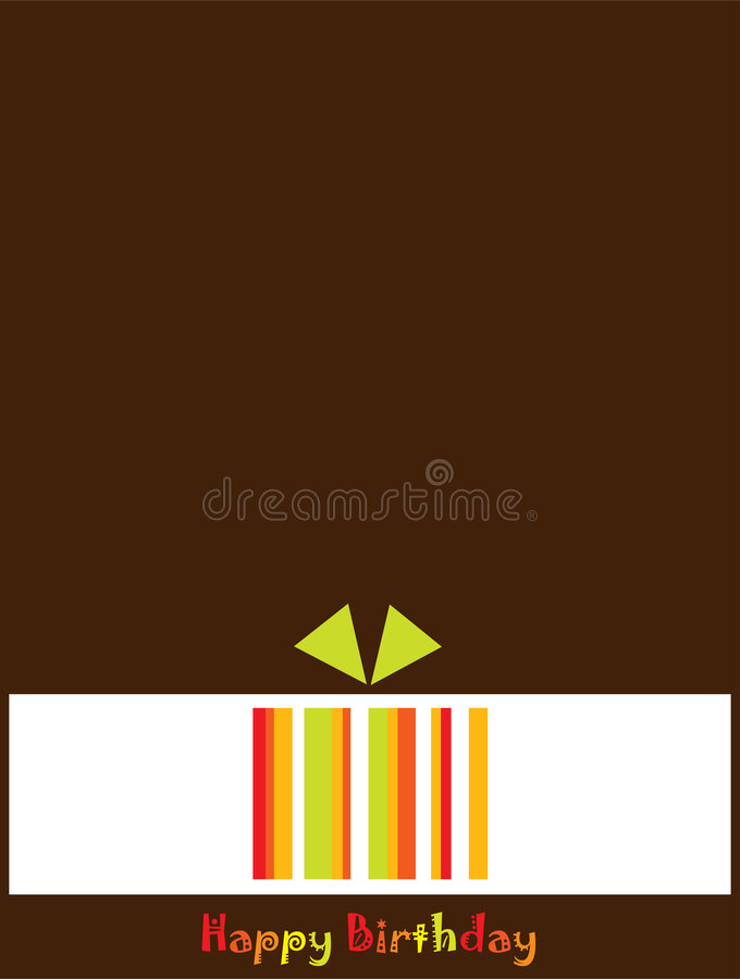 Download Birthday Greeting Card stock vector. Image of yellow, celebrations - 8073576