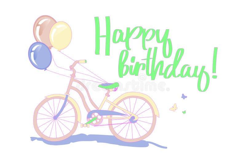 Birthday greeting card royalty free illustration