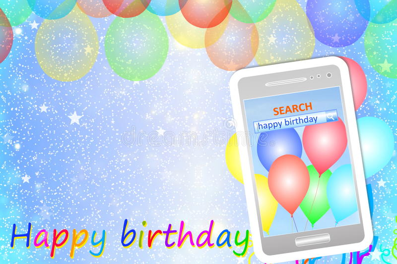 Birthday greeting card or background with cellphone stock image download birthday greeting card or background with cellphone stock image image of celebrate decoration bookmarktalkfo Image collections