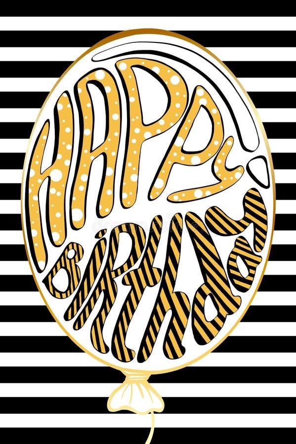 Birthday greeting cards design. Vector eps 10 format stock illustration