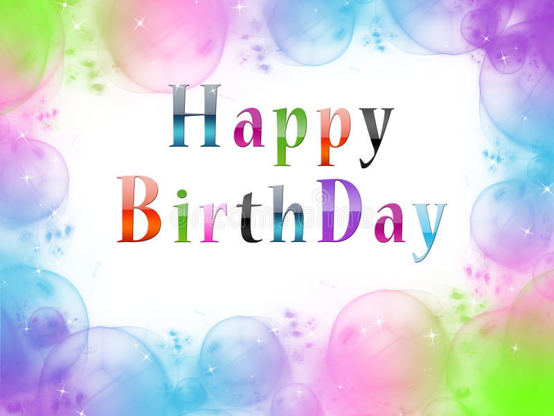 Birthday Greetings Illustration stock photography