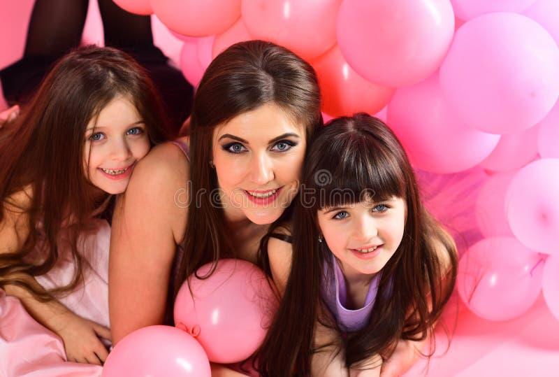 Birthday, happiness, childhood. Birthday, happiness, childhood birthday party of happy family stock photo