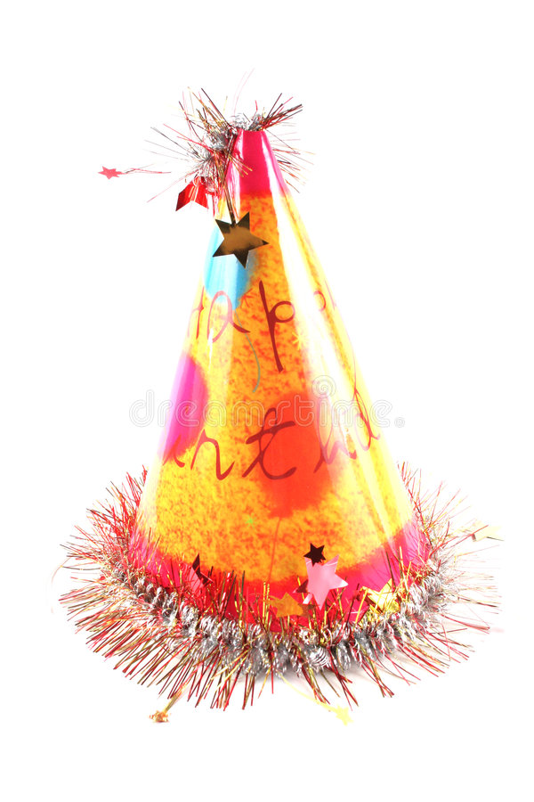Birthday hat stock photos