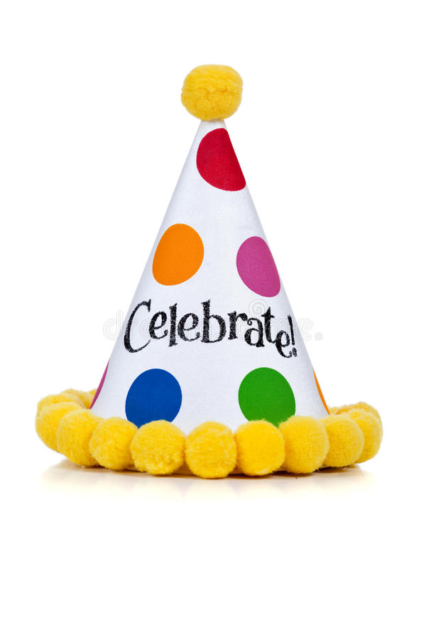 Birthday hat on a white background royalty free stock image
